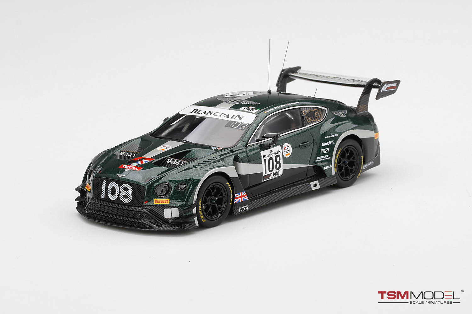 Bentley Continental GT3 #108  2019 Total 24 Hours of Spa